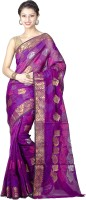 Chandrakala Self Design Banarasi Art Silk Saree(Purple)