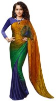 Aksh Fashion Self Design Bollywood Art Silk Saree(Multicolor)