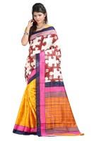 Indrani Solid Fashion Silk Saree(Blue)