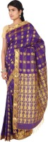 Thara Sarees Self Design Kanjivaram Art Silk Saree(Blue)