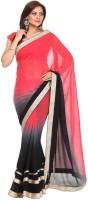 Kataan Bazaar Embroidered Fashion Handloom Georgette Saree(Pink)