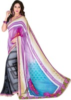 Vastrani Embroidered Fashion Georgette Saree(Multicolor)