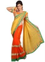Chirag Sarees Self Design Fashion Chiffon Saree(Multicolor)