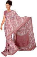 Jiya Self Design Fashion Poly Georgette Saree(Pink)