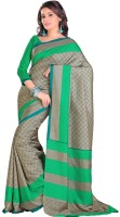 Gugaliya Geometric Print Fashion Art Silk Saree(Multicolor)