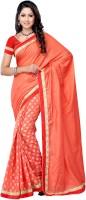 Suvastram Self Design Fashion Art Silk Saree(Orange)