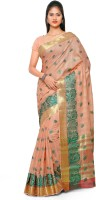 Varkala Silk Sarees Self Design Chanderi Chanderi Saree(Orange)