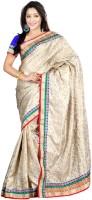 Suvastram Embellished Fashion Art Silk Saree(Beige)