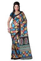 Indrani Printed Fashion Chiffon Saree(Green)