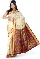 Ishin Solid Fashion Art Silk Saree(Multicolor)
