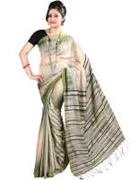 Hawai Self Design Fashion Cotton Saree(Beige)