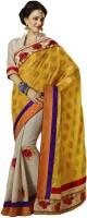 Bahubali Sarees Self Design Fashion Crepe Saree(Yellow)