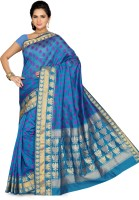 Ishin Printed Fashion Silk Saree(Blue)