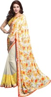 Bhavi Printed Fashion Georgette Saree(Multicolor)