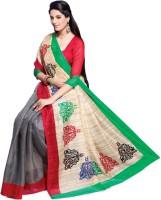 Sunaina Printed Fashion Cotton, Silk Saree(Multicolor)