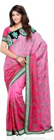 JTInternational Geometric Print Fashion Art Silk Saree(Multicolor)