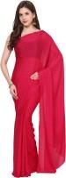 Aksara Self Design Daily Wear Crepe Saree(Red)
