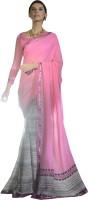 Magnum Opus Store Printed, Self Design Daily Wear Poly Georgette Saree(Pink, Beige)