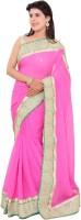 Shri Narayan Fashions Embellished Fashion Handloom Viscose Saree(Pink)