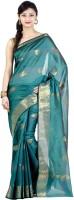 Chandrakala Printed Banarasi Banarasi Silk Saree(Green)