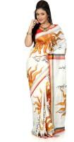 B3Fashion Woven Kosa Handloom Pure Silk Saree(Multicolor)