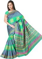 Khushali Printed Fashion Tussar Silk Saree(Multicolor)