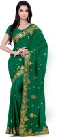 Saree Swarg Self Design Bollywood Georgette Saree(Green)