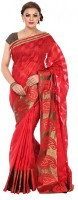 Kataan Bazaar Self Design Banarasi Chanderi Saree(Red)