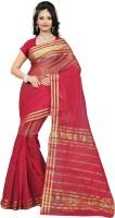 Gugaliya Solid, Striped Manipuri Silk Cotton Blend Saree(Multicolor)