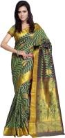 Sonal Trendz Self Design Kanjivaram Art Silk Saree(Green)