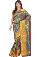 Varkala Silk Sarees Woven Fashion Silk Saree(Green)