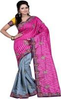 Patankar Fab Self Design Bhagalpuri Khadi Saree(Pink)