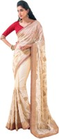Vishal Printed Fashion Georgette Saree(Beige)