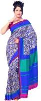 Gugaliya Printed Fashion Art Silk Saree(Blue, Green)