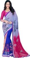 Vastrani Embroidered Fashion Georgette Saree(Blue, Pink)