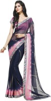 Vishal Printed Fashion Chiffon Saree(Blue)