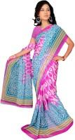 Jiya Self Design, Printed Fashion Chiffon Saree(Multicolor, Pink)