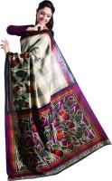 Sunaina Printed Cotton Saree(Multicolor)