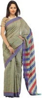 Romi's Solid Bhagalpuri Handloom Tussar Silk Saree(Light Green)