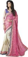 M.S.Retail Self Design Fashion Brasso, Cotton Saree(Pink)