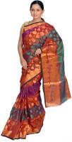 Jagadamba Self Design Fashion Organza Saree(Multicolor)