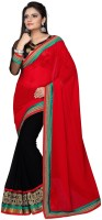 Indian Wear Online Printed Fashion Georgette Saree(Multicolor)