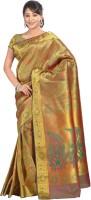Varkala Silk Sarees Woven Kanjivaram Silk Saree(Green)