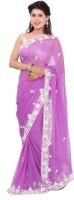 Shri Narayan Fashions Embellished Fashion Handloom Viscose Saree(Purple)