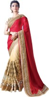 Chirag Sarees Embroidered Bollywood Georgette Saree(Red)