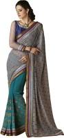 Desi Butik Self Design Fashion Brasso Saree(Grey)