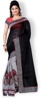 Indianbeauty Self Design Fashion Jute, Cotton Saree(Black)