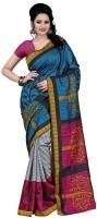 Indrani Printed Fashion Silk Saree(Multicolor)