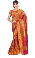 Varkala Silk Sarees Floral Print Kanjivaram Silk Saree(Maroon)