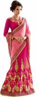 Aasvaa Self Design Lehenga Saree Jacquard Saree(Pink)